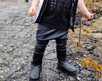 faux leather leggings, toddler faux leather leggings, kids leather pants, toddler leather leggings, leather leggings, pleather harem pants