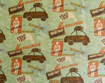 END OF BOLT Sale Road Trip By Clothworks Fabrics