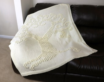 Knitting Pattern-- Knit Tree of Love Heirloom Afghan --Knitting Pattern