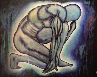 Original Painting Internal Universe by artist Rafi Perez Mixed Medium on Canvas 18X24