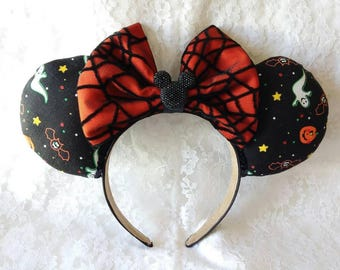 Halloween Mouse Ears (Pumpkins, ghosts and Bats)