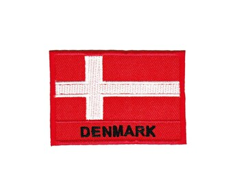 AC51 Denmark Canada flag travel country Patches Patch patches size 7 x 4.8 cm