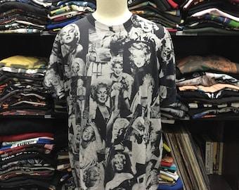 Vintage Marilyn Monroe Allover Print Tshirt