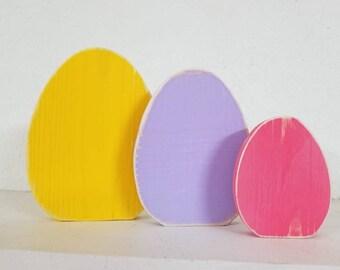 Easter Egg shelf sitters, Easter Decor, Peeps bunny , Peeps blocks, Bunny Blocks, Holiday Blocks, Easter Bunny Blocks, Shelf Sitter