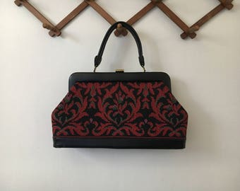 Vintage Tapestry Doctor Bag Handbag