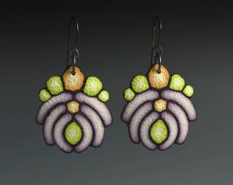 "Polymer Clay PDF Tutorial ""Art Deco Earrings"""
