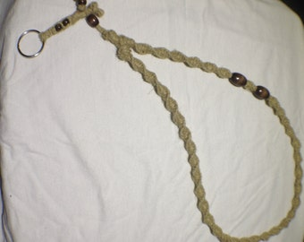 All Natural Hemp Lanyard