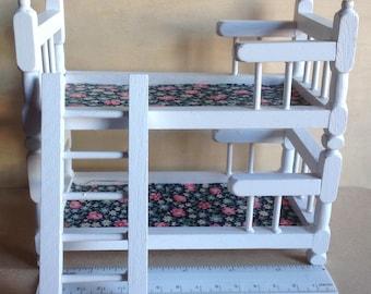 Miniature Bunk Beds Wooden  Dollhouse Furniture