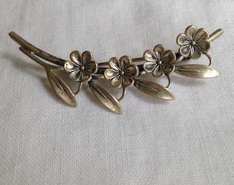 Beau Sterling Silver Flower Brooch