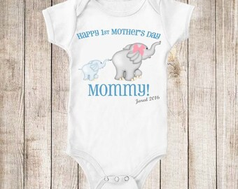 First Mother's Day Son Shirt or Bodysuit Personalized 1st Mother's Day T Shirt