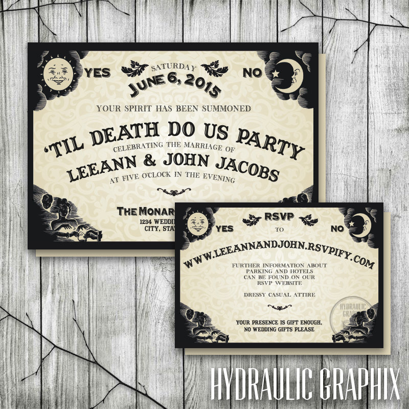 Ouija board invitation for wedding reception halloween zoom junglespirit Choice Image