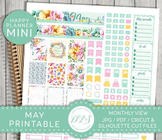 May Planner Kit May Mini Happy Planner May Printable