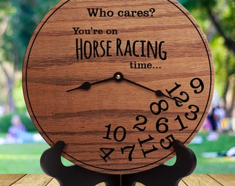 Funny Horse Racing Gifts - Who Cares You're On Horse Racing Time - Horse Track - Jockeys - Triple Crown - Thoroughbred Racing