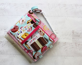 planner bag - planner pouch -  doughnut lovers - cute bujo accessories - zipper pouch - cute pencil case - life planner cover - pen pouch