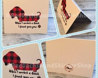 Dachshund blank greeting card