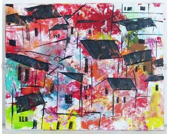 Hand Painted Original Acrylic, Mixed Media on Canvas No. 10