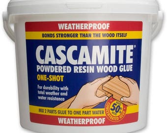 Cascamite Powdered Resin Wood Glue, Fast Bond for both interior and exterior, waterproof, gap filling and ultra strong clear joins!