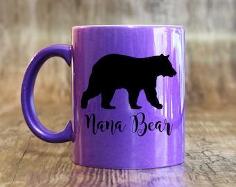 Nana Bear 11 or 15 oz Coffee Mug, Coffee Cup, Tea Mug - Perfect Mother's Day or Christmas Gift for New Nana or Grandma To Be (OHC176)