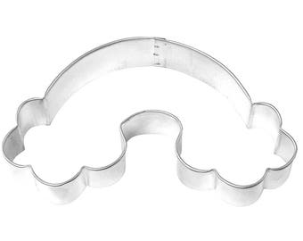 "Rainbow  w clouds Cookie Cutter  rainbow cookie cutter, 4.75"" weather cookie cutter cookie cutter"