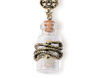Snake Wrapped Bottle Pendant