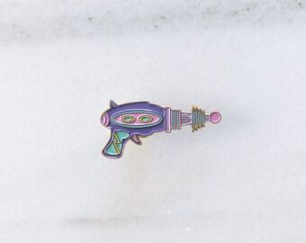 SPACEGUN - Enamel Pin, Lapel pin, Pins, Enamel Pins, Pin, Space pin, Gold enamel pin, Soft enamel pin.