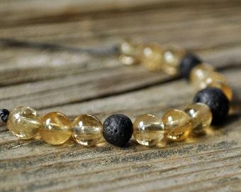 Citrine Bracelet, Diffuser Bracelet, Beaded Diffuser, Essential Oils, Oil Diffuser, Yoga Bracelet, Meditation Bracelet, Healing Bracelet