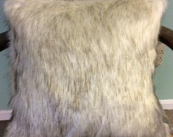 Platinum  fox faux fancy fur