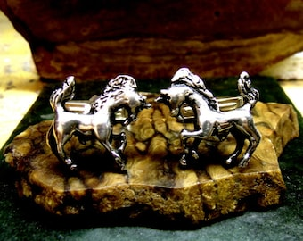 Unicorn Cufflinks in solid sterling silver Free Domestic Shipping