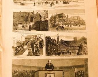 The GRAPHIC Magazine Newspaper September of 1883 Great Engravings History Historical Articles Engravings