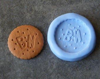 Moule en silicone biscuit B.N. côté face