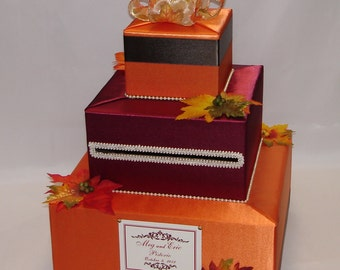 FALL theme Wedding Card Box-any colors