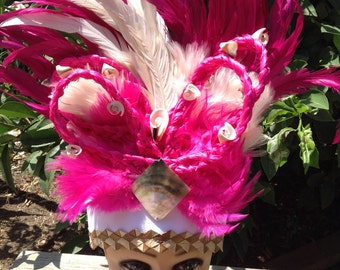 Tahitian And Cook Island Headpiece..Perfect For All Ages, For Solo Dancers, Luau, Halau Or Group Dancers!!