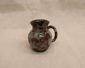 Vintage Ewenny Pottery Serving Jug - mottled brown