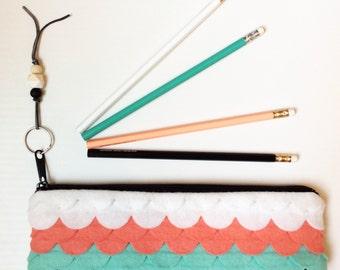 Cute Pencil Pouch Large Pencil Case Felt Bag Felt Pencil Case Small Zipper Pouch Felt Pouch Purse Organizer Planner Accessories