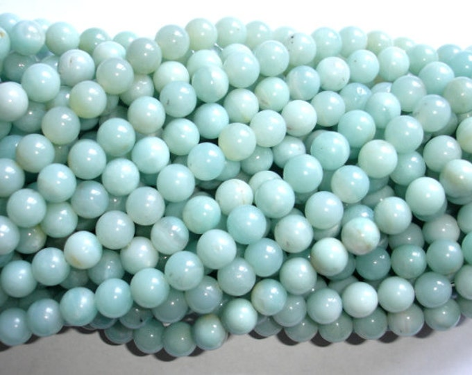 Amazonite Beads, Round, 8mm(8.5mm), 15.5 Inch, Full strand, Approx 45-48 beads, Full strand, Hole 1mm (111054003)