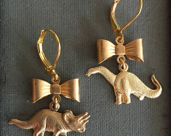 Dinosaur Charm Earrings