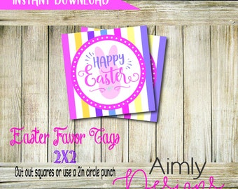 Happy Easter Tags Instant Download