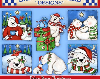 Christmas Clipart, Holiday Clipart, Polar Bear Clipart, Laurie Furnell, Christmas Graphics, Christmas Scrapbooking, Holiday Paper Crafts,