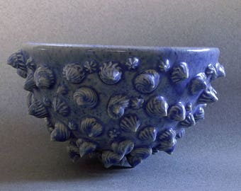 Blue decorative bowl, hostess gift, ceramic bowl, trinket bowl