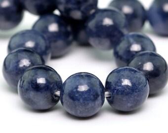 "6MM Sapphire Beads Grade AAA Genuine Natural Gemstone Quarter Strand Round Loose Beads 4"" BULK LOT 1,3,5,10 and 50 (100703hf-306)"