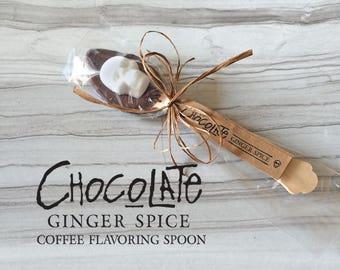 "Milk Chocolate Ginger Hand-Dipped Spoons // ""gift for him"" // Sugar Skull Valentine Treat // Gothic Valentine // ""Secret Santa"""