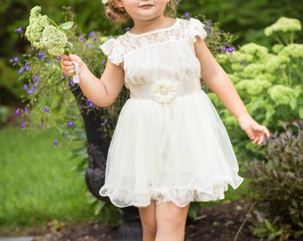 f5ff74f3f8 The Chloe Lace Flower Girl Dress
