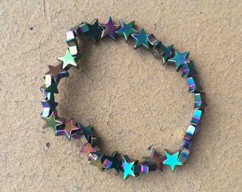 Iridescent Star Stretchy Bracelet