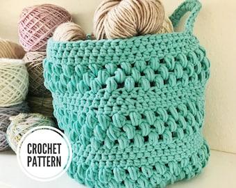 The Bubble Basket **PDF Pattern Only. Crochet Basket Pattern. Hanging Basket Pattern. Easy Crochet Basket Pattern. Storage Basket Pattern.
