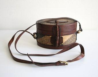 Herringbone Hard Case Crossbody Bag