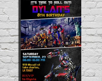 Transformers invite etsy transformers birthday invitation transformers birthday party transformers invitation transformers party invitation transformers filmwisefo Images