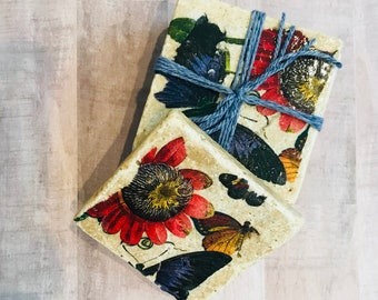 Butterfly Decor Coaster Tiles