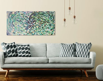 Abstract Acrylic painting 60 x 120 cm, approx. 23.5 x 47 inch, Original painting, acrylic artwork, abstract art, canvas, wall art decoration