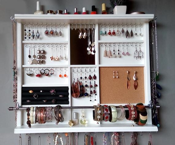 Jewelry organizer Large earrings display shelf jewelry