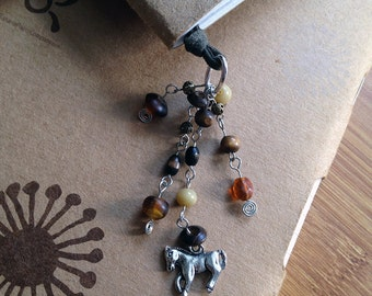 Horse Book Thong Beaded Leather Bookmark Pony Club Horse Lover Gift